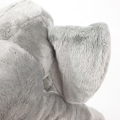 USUPSO หมอนตุ๊กตาช้างน้อย   ขนาด 43 ซม (#Q) สีเทา