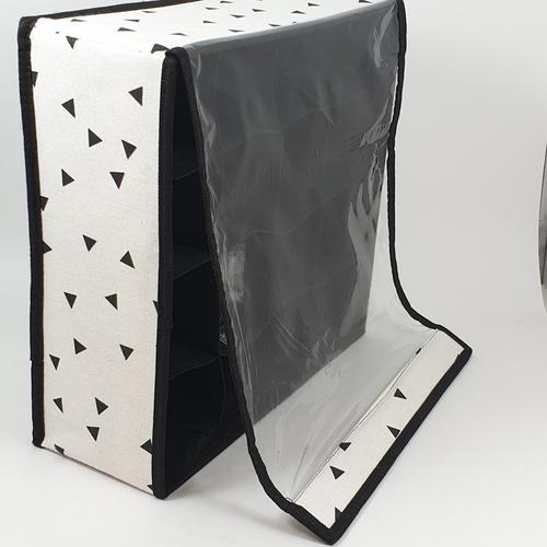 USUPSO  กล่องเก็บชุดชั้นใน geometric 16 ช่อง (#BK5) สีขาว