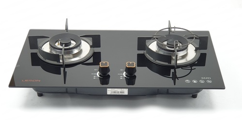 LEMON เตาแก๊สแบบฝังหน้ากระจก 2 หัวเตา  GC(N/L)--GS201  สีดำ