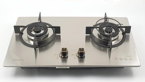 LEMON เตาแก๊สแบบฝังหน้าสเตนเลส 2 หัวเตา  GC(N/L)--SS209
