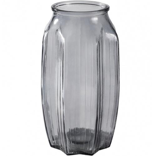 COZY  แจกันแก้ว ขนาด 10x22.5 ซม. Faris-G  เทา