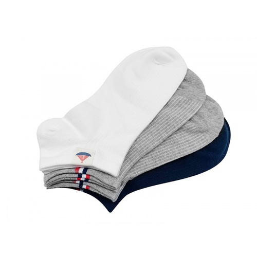 USUPSO ถุงเท้าไร้ข้อ ผู้ชายผ้าอังกฤษ แพ็ค 2 คู่ คละสี ขนาด 26x8.5x1  (#BD)