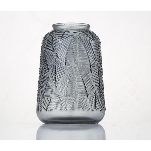 COZY แจกันแก้ว ขนาด 12.8x18.8 ซม. Degen-G  สีเทา