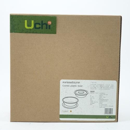 UCHI ตะแกรงพร้อมถาด   ขนาด Ø20.2 cm. A0210-YL สีเหลือง