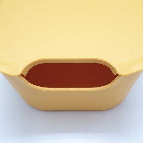 GOME กล่องอเนกประสงค์ ขนาด 18 x 25.5 x 11 cm. ZWMLP009-YE  สีเหลือง