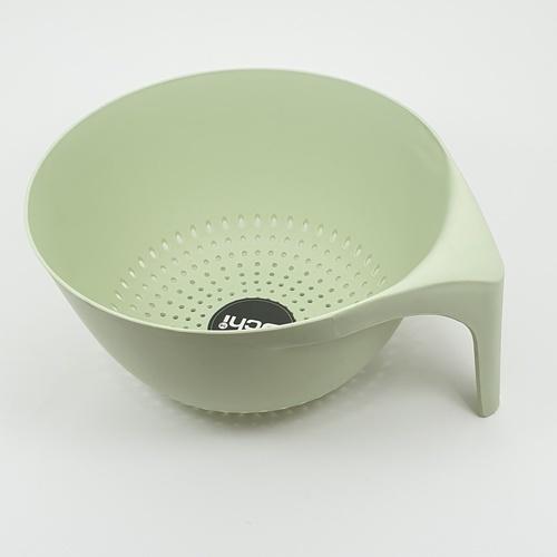 - ตะกร้าล้างผัก ขนาด  23 x 23 x 11.5 cm DWF009-GN  สีเขียว
