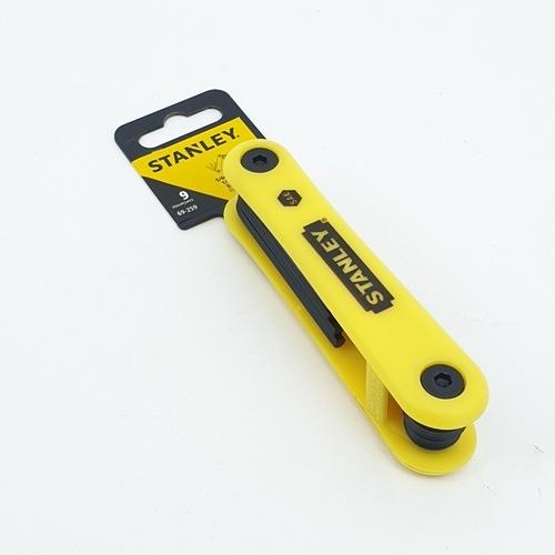 STANLEY ประแจหกเหลี่ยมพับได้9ตัว/ชุด69-259 ประแจหกเหลี่ยมพับได้9ตัว/ชุด69-259 สีเหลือง