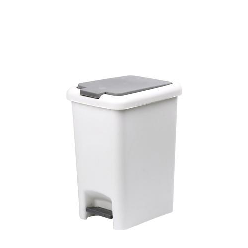 ICLEAN ถังขยะเหยียบ ทรงเหลี่ยม 45 ลิตร TG51792 สีขาว