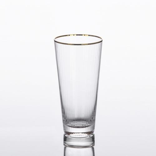 AILO แก้วทรงสูงขอบทอง 450ml.  JORINA-G