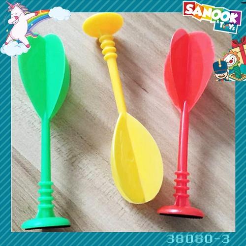 Sanook&Toys ลูกดอกปาเป้าพสาสติก 3 อัน #38080-3 (9.5x4.2x11 ซม.) คละสี
