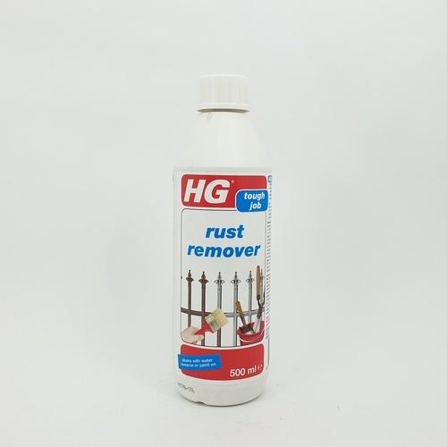 HG ขจัดสนิม  (ขจัดสนิมบนผิววัสดุโลหะต่างๆ)  0.5L.