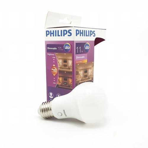 PHILIPS หลอดแอลอีดีบัล์บ 11.5 วัตต์ 2700K A60 หลอดขุ่น ดิม - สีขาว