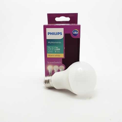 PHILIPS LED SSW A60 3S 7.5-3-12-70W E27 3000K  - สีขาว