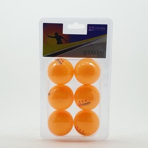 4TEM ลูกปิงปอง  3 ดาว เส้นผ่าศูนย์กลาง 4 ซม. (6 ลูก/แพ็ค)  SG-9284 สีส้ม