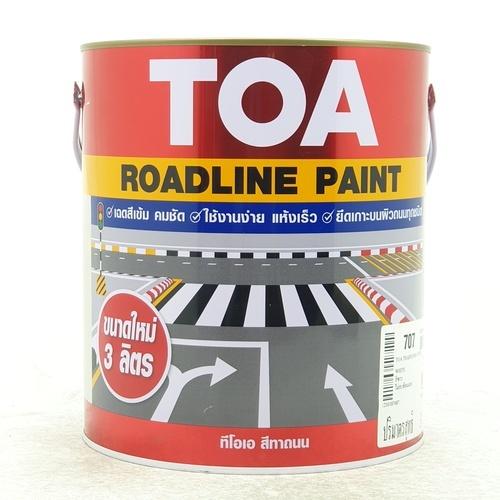 TOA สีทาถนนไม่สะท้อนแสง 3 ลิตร # 707 สีขาว
