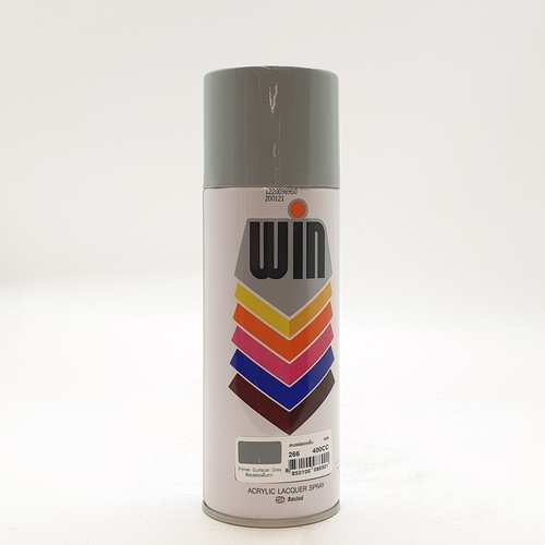 WIN สีสเปรย์รองพื้นเทา400cc. WIN-266