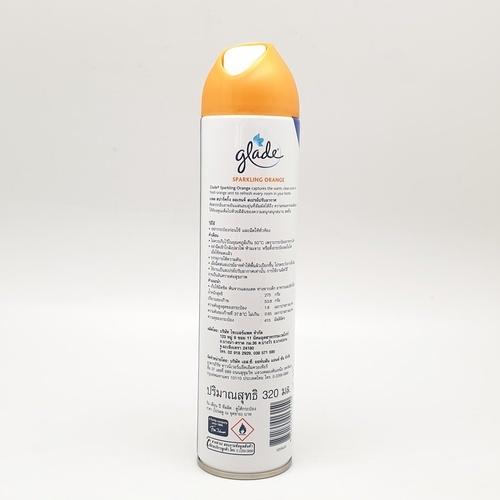 Glade เกลด สเปรย์-สปาร์คกิ้ง ออเร้นจ์ 320มล. Spray Sparkling Orange