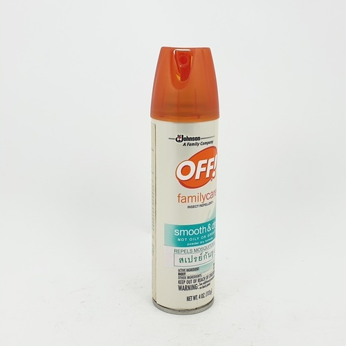 oFF สเปร์ยกันยุง 4 ออนซ์ smooth & dry  ส้ม