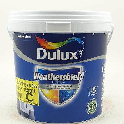 Dulux ดูลักซ์เวเธ่อร์ชีลด์อัลติม่า(กึ่งเงา) เบส C 3L Weathershield Ultima (Semi-Gloss)