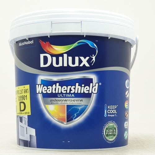 Dulux สีน้ำทาภายนอก Weathershield Ultima (Semi-Gloss) ขาว