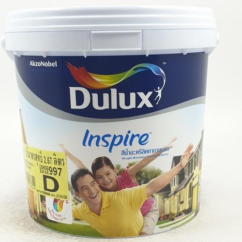 Dulux ดูลักซ์อินสไปร์นอกกึ่งเงา เบส D 3L Inspire