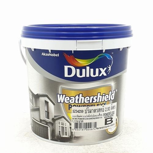 Dulux เวเธอร์ชีลด์พาวเวอร์เฟล็กซ์เนียน เบสB 3L Weathershield Powerflexx