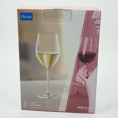 Ocean แก้วไวน์ขาว 340 ML.2ใบ/แพ็ค ซองเต้ ไวท์ไวน์
