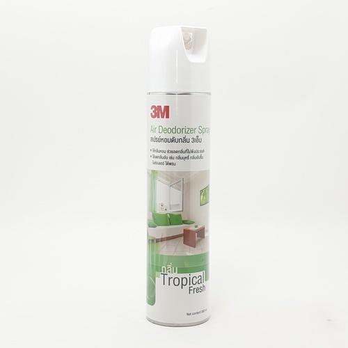 3M สเปรย์ดับกลิ่น 3เอ็ม กลิ่นทรอปิคอล เฟรช - เขียว-ขาว