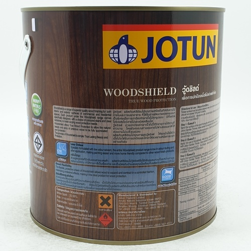 JOTUN สีย้อมไม้ภายนอก ชนิดเงา ขนาด3.6 ลิตร WOODSHIELD EXT GL  เหลือง