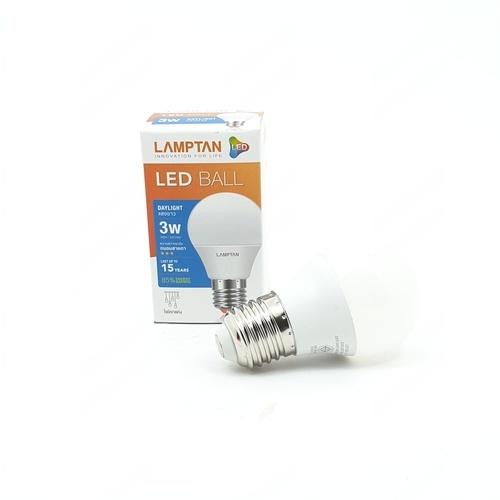 LAMPTAN แอลอีดีบอล 3 วัตต์ แสงเดย์ไลท์ LED BALL สีขาว