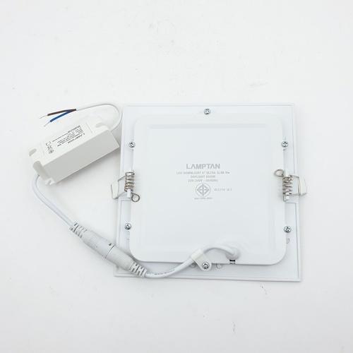 LAMPTAN โคม LED 9w แสงเดย์ไลท์ Downlight ultra slim สีขาว