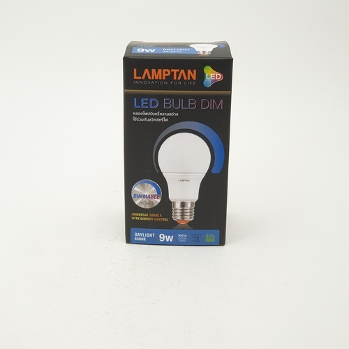 LAMPTAN หลอด LED  9w แสงเดย์ไลท์ BULB DIMMABLE