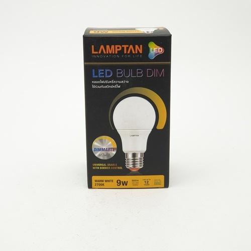 LAMPTAN หลอด LED  9w แสงวอร์มไวท์ BULB DIMMABLE