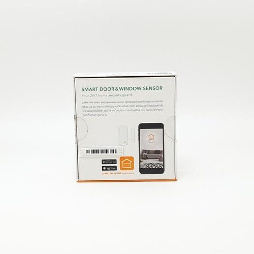 LAMPTAN เซ็นเซอร์ประตูและหน้าต่างอัจฉริยะ  Smart Door & Window Sensor  สีขาว