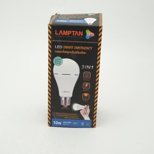 LAMPTAN หลอดไฟฉุกเฉินแอลอีดี 10 วัตต์ แสงเดย์ไลท์ Emergency bulb สีขาว