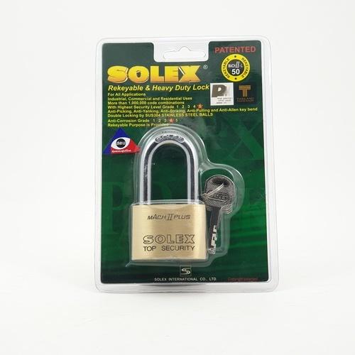 SOLEX กุญแจคล้อง ขนาด 50 มม. MACH II L 50MM