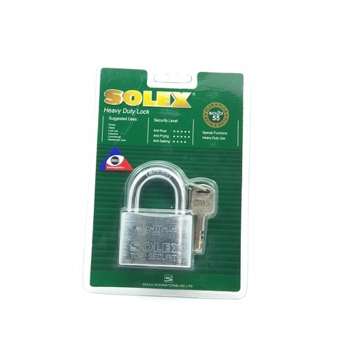 SOLEX กุญแจคล้อง ขนาด 55 มม. MACH II CR  สีทอง