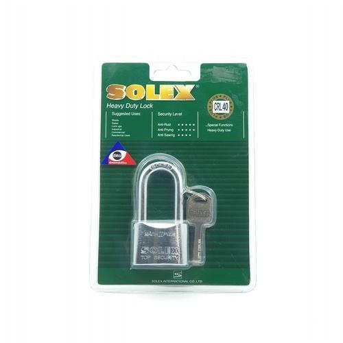 SOLEX 40 mm key padlock MACH II CRL สีทอง
