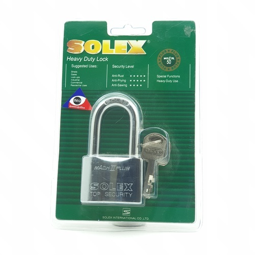 SOLEX กุญแจคล้อง ขนาด 50 มม. MACH II CRL