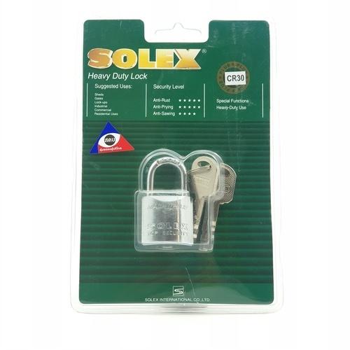 SOLEX กุญแจคล้อง ขนาด  30 มม. MACH II CR