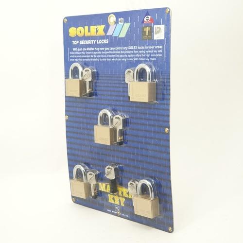 SOLEX 40 mm key padlock MTK 5:1  สีทอง