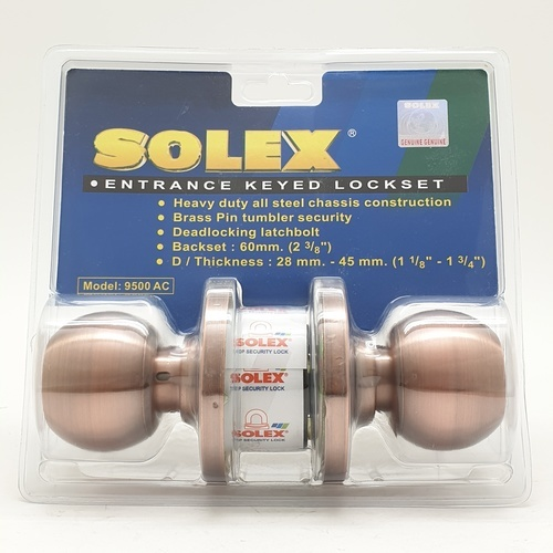 SOLEX ลูกบิด (แผง) 9500 AC  ทองแดงรมดำ