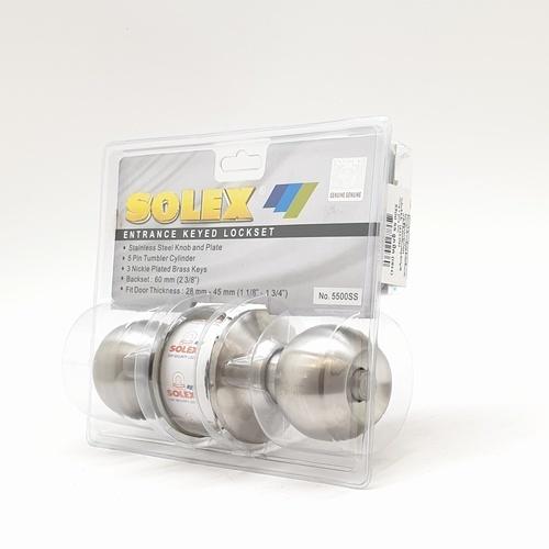 SOLEX ลูกบิด (แผง) 5500SS  บอล-เงิน