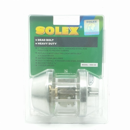 SOLEX กุญแจฝังล็อคเดียว - แผง 5900SS  สีขาว