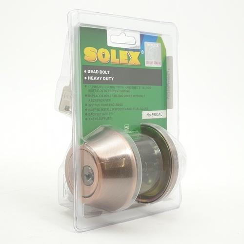 SOLEX กุญแจลิ้นตายล็อคด้านเดียว  5900 AC