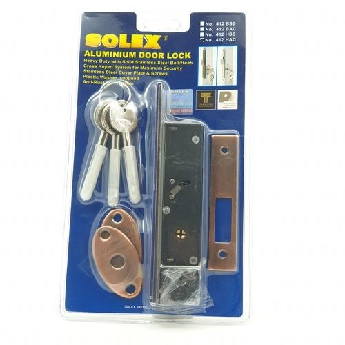 SOLEX กุญแจบานเลื่อน - สีแดง
