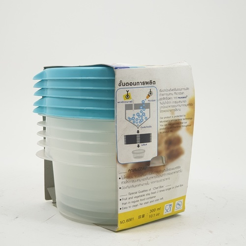 SUPER LOCK กล่องเชฟบ็อค 300 ml. (5ชิ้น/แพ็ค) 6061 คละสี