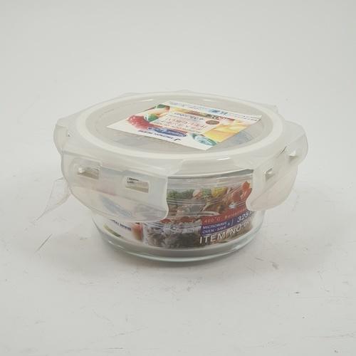 SUPER LOCK กล่องอาหารกลม  ขนาดบรรจุ 325 ml. 6081 ขาว