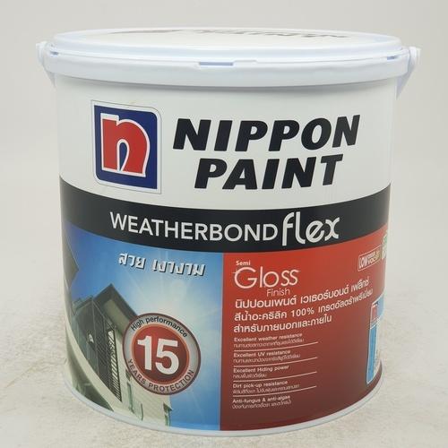 NIPPON สีน้ำภายนอก Weatherbond Flex ขาว