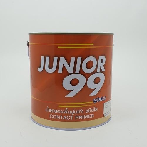 NIPPON JUNIOR สีรองพื้นปูนเก่า สีใส สูตรน้ำมัน  1 กล. JUNIOR 99 CONTACT PRIMER  สีขาว